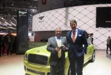Egidio Reali with Stefan Sielaff, director of design of Bentley.