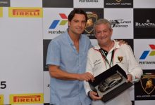 Egidio Reali @Sebring with the winners of the Blancpain Super Trofeo Series winners 2015.