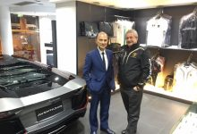 Egidio Reali with Jimmy Chong, Lamborghini Dealer Hong Kong