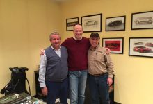Egidio Reali with Tom McDowell of Concorso Italiano and Raffaello Porro in MR Collection Factory.