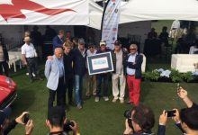 Egidio Reali At Concorso Italiano 2016 with the award created for the