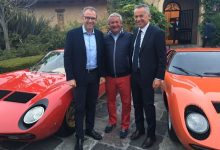 Egidio Reali At Serata Italiana 2016 in Monterey with Stefano Domenicali and Maurizio Reggiani.