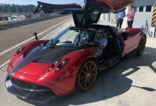 Egidio Reali With the exclusive Pagani Huayra BC.