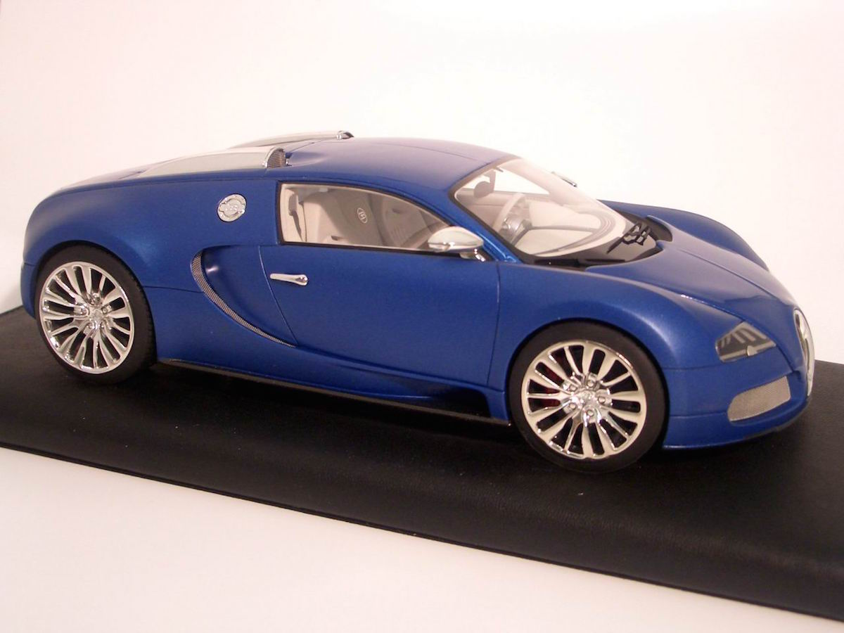 bugatti veyron 16.4 blue centenarie limited edition 30 pcs 1:18
