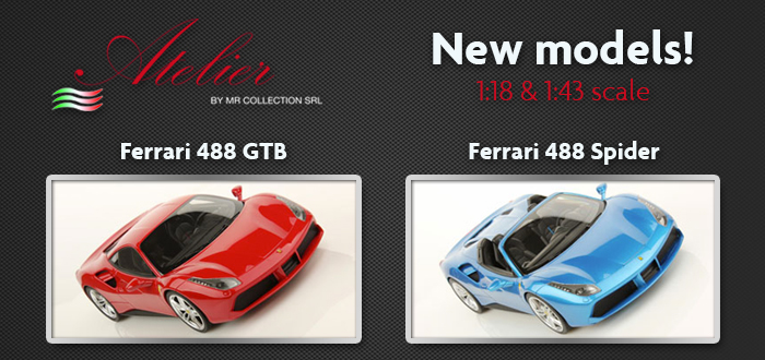 Ferrari 488 Spider And 488 Gtb Two New Models Available For Customization On Atelier Mr Collection Models
