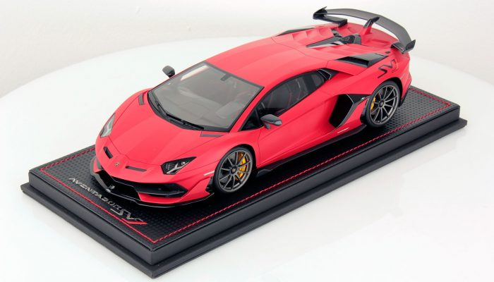 Lamborghini Aventador SVJ 1:18 Rosso Mirmir